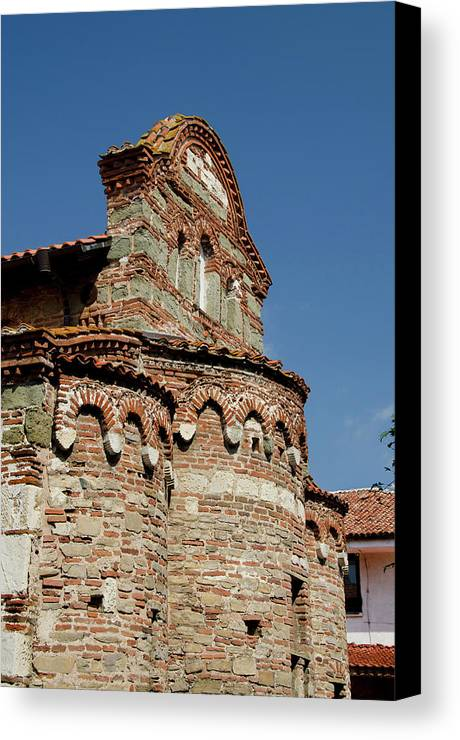 10th Century Canvas Print featuring the photograph Bulgaria, Nessebur (aka Nessebar Or by Cindy Miller Hopkins