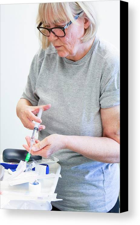 Adult Canvas Print featuring the photograph Shared Care Dialysis Unit by Life In View
