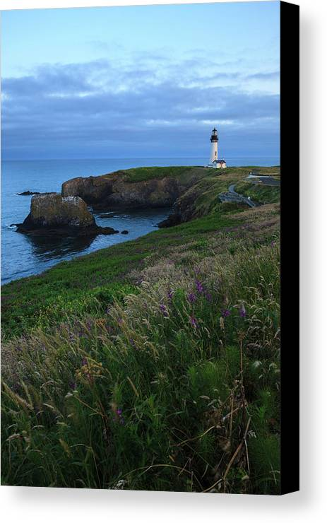 Area Canvas Print featuring the photograph Usa, Oregon, Newport, Yaquina Head by Rick A Brown