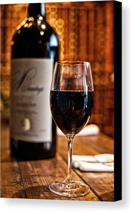 Food Canvas Print featuring the photograph A Fine Red by Shanna Gillette