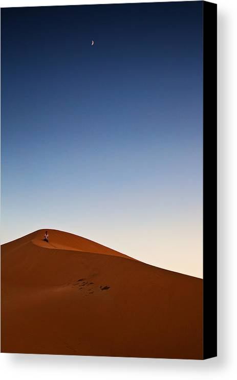 Morocco Canvas Print featuring the digital art A Time For Contemplation by Phil Dyer
