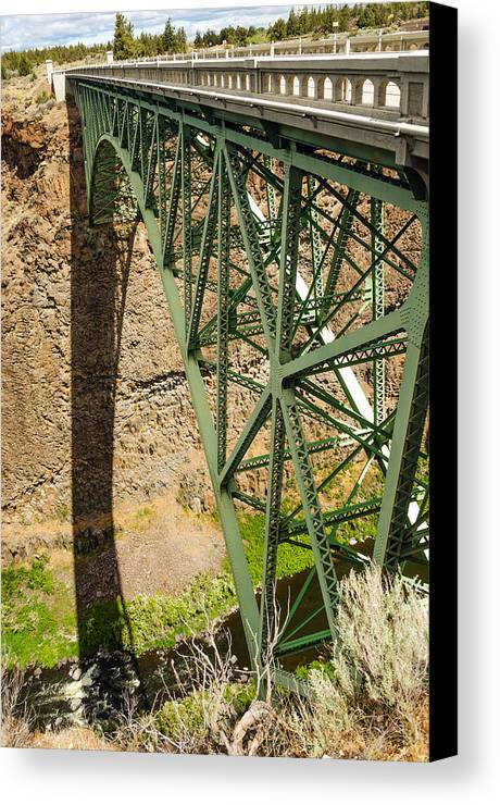 Bridge Canvas Print featuring the photograph Abandoned Highway Vertical by Jess Kraft