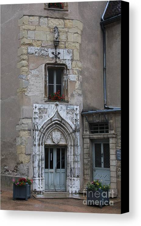 Palace Canvas Print featuring the photograph Abbot Palace Entrance Cluny by Christiane Schulze Art And Photography
