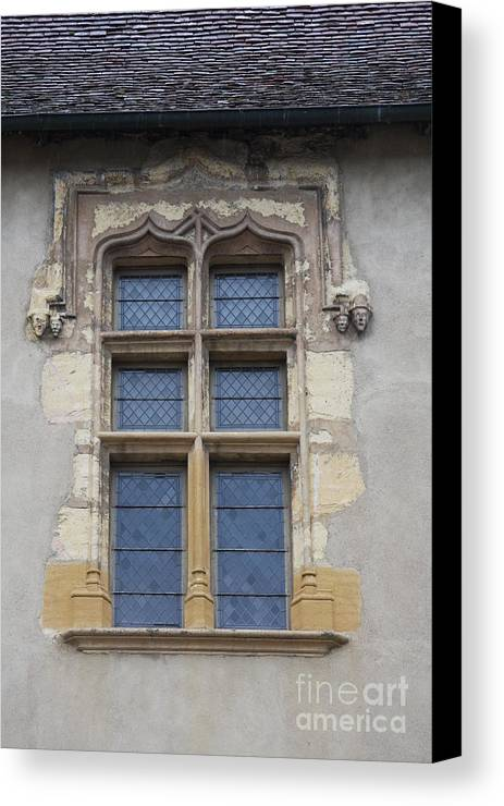 Palace Canvas Print featuring the photograph Abbot Palace Window - Cluny - Burgundy by Christiane Schulze Art And Photography