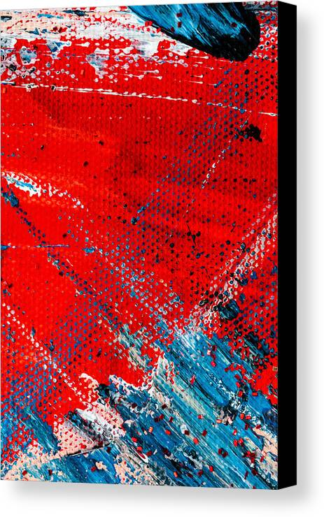 Abstract Canvas Print featuring the painting Abstract Original Artwork One Hundred Phoenixes Untitled Number Five by Maria Lankina
