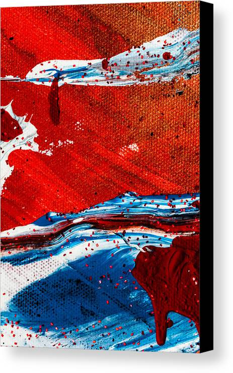 Abstract Canvas Print featuring the painting Abstract Original Artwork One Hundred Phoenixes Untitled Number Three by Maria Lankina