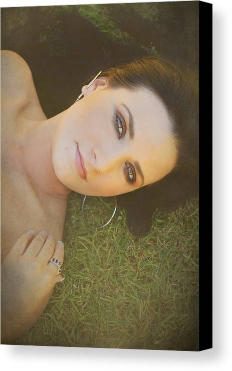 Woman Canvas Print featuring the photograph After The Picnic by Laurie Search