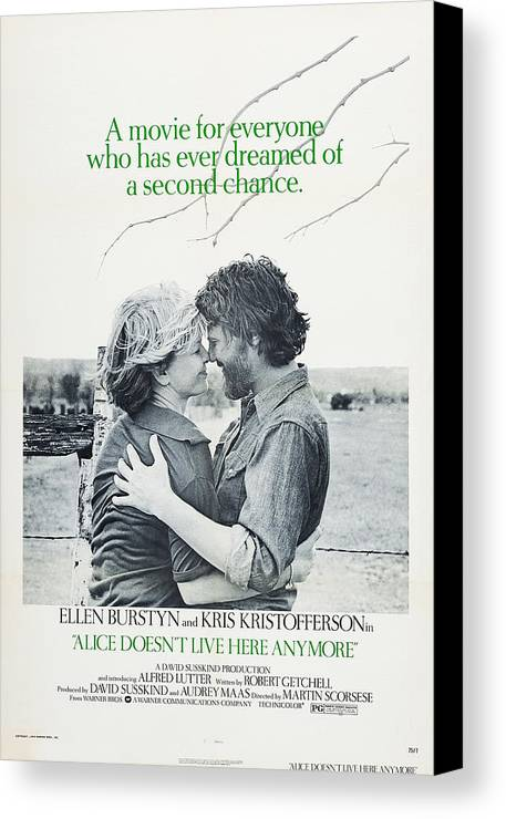 1970s Poster Art Canvas Print featuring the photograph Alice Doesnt Live Here Anymore, Us by Everett