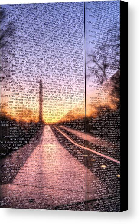 Vietnam Wall Canvas Print featuring the photograph Always Remembered by JC Findley
