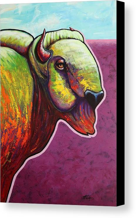 Wildlife Canvas Print featuring the painting American Monarch by Joe Triano