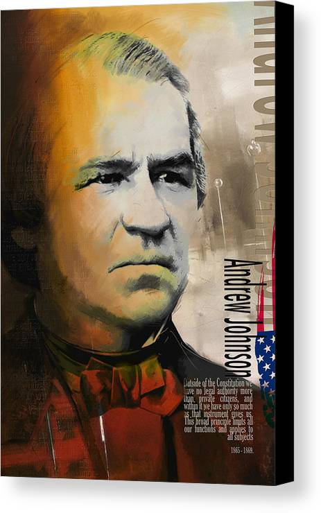 Andrew Johnson Canvas Print featuring the painting Andrew Johnson by Corporate Art Task Force