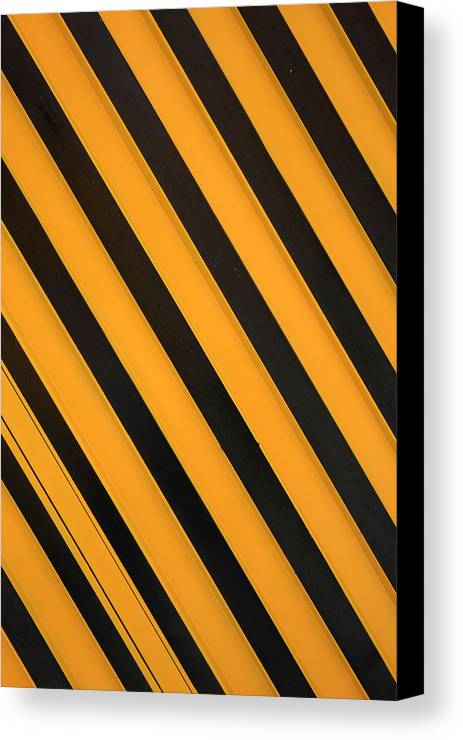 Abstract Canvas Print featuring the photograph Angled Stripes by Robert Hamm