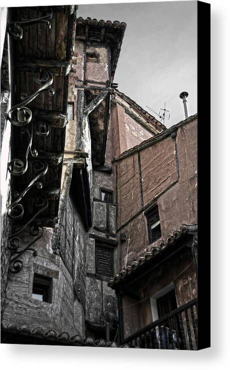 Timbered Canvas Print featuring the photograph Antique Ironwork Wood And Rustic Walls by RicardMN Photography