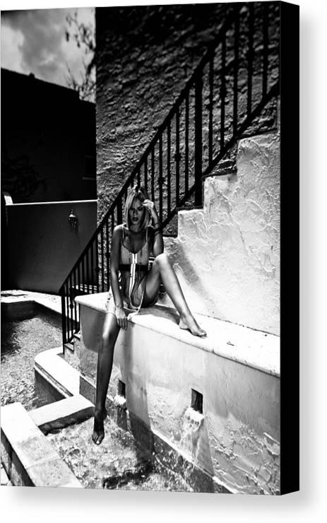 Javier Martinez Dannweir Christopher Wadsworth Mega Models Ro Bi Canvas Print featuring the photograph Aqua Vitae by Maria Lankina