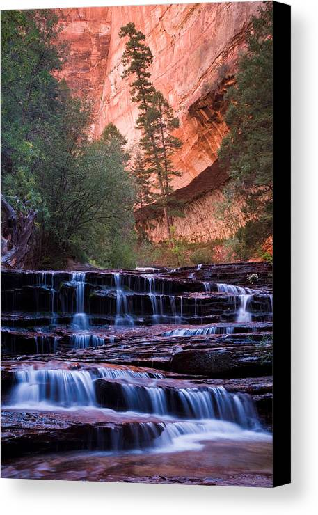 Usa Canvas Print featuring the photograph Archangel Cascades by Wolfgang Woerndl