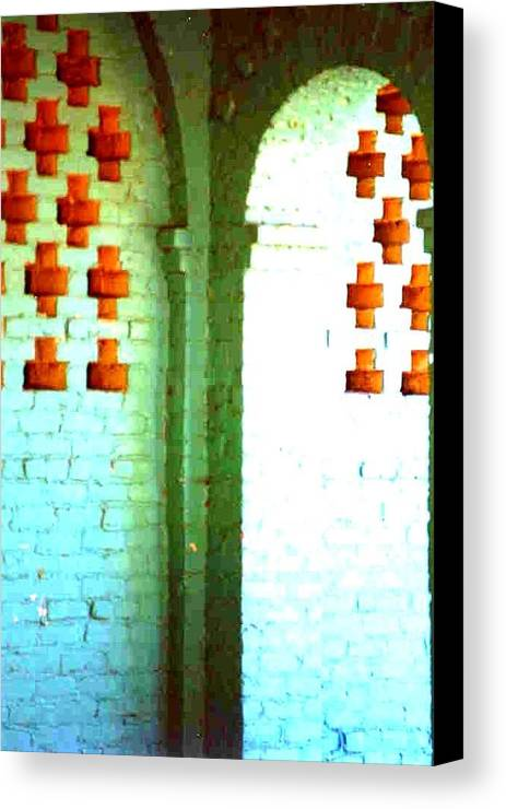 Arches Greeting Cards Canvas Print featuring the photograph Arches And Crosses New Orleans Louisiana Usa by Michael Hoard