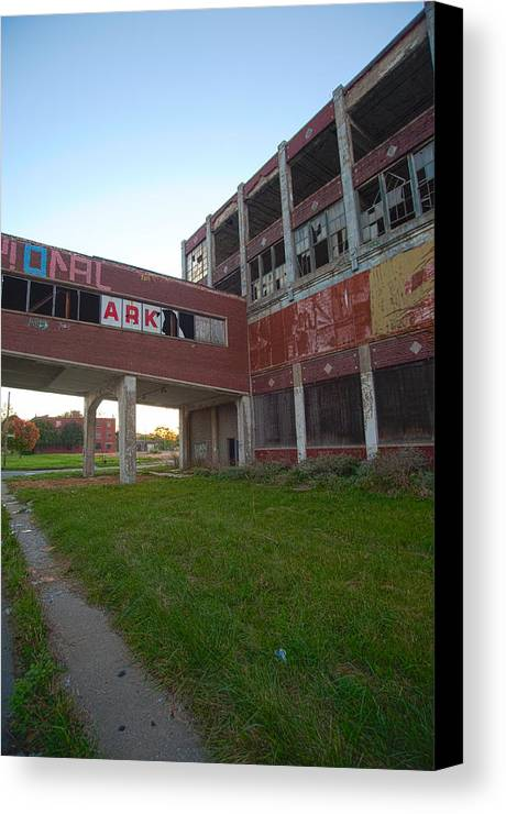 Ark Canvas Print featuring the photograph Ark At The Packard Plant by Steven Dunn