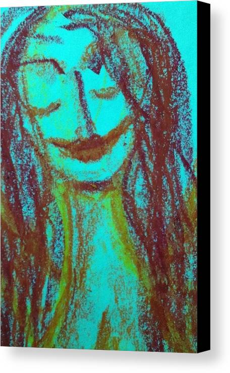 Woman Canvas Print featuring the photograph Art Therapy 167 by Michele Monk