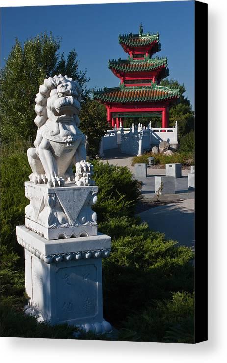 Des Canvas Print featuring the photograph Asian Gardens by Claus Siebenhaar