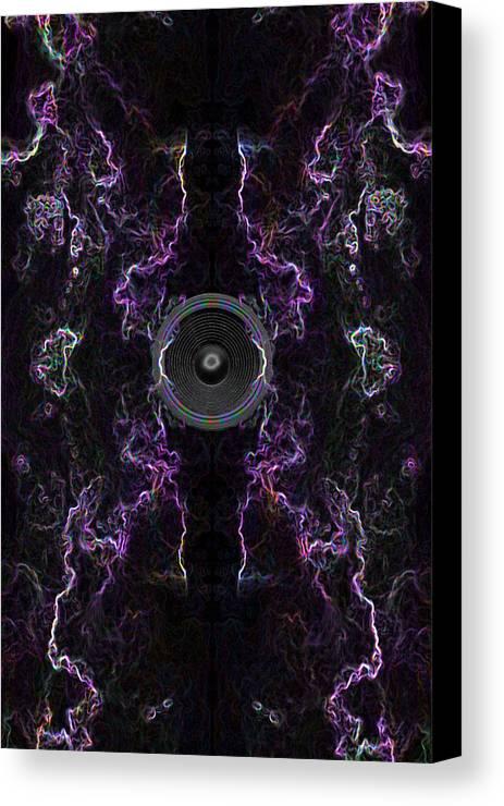 Festival Canvas Print featuring the digital art Audio Purple Neon by Steve Ball