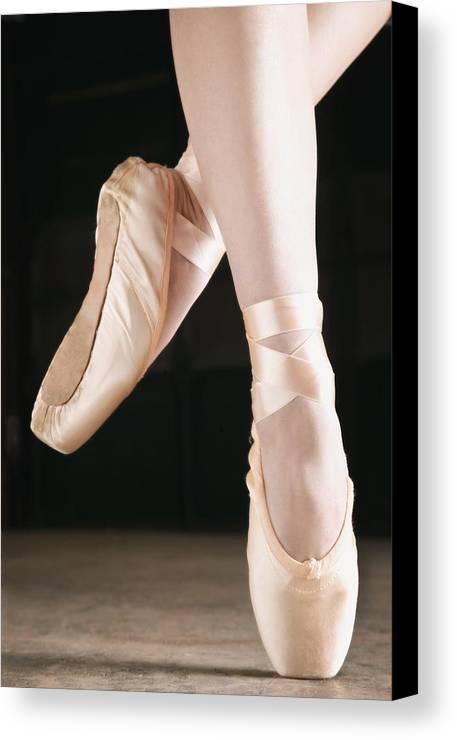 Pride Canvas Print featuring the photograph Ballet Dancer En Pointe by Don Hammond
