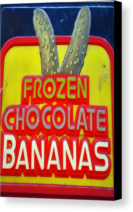 Fair Canvas Print featuring the photograph Bananas by Skip Willits