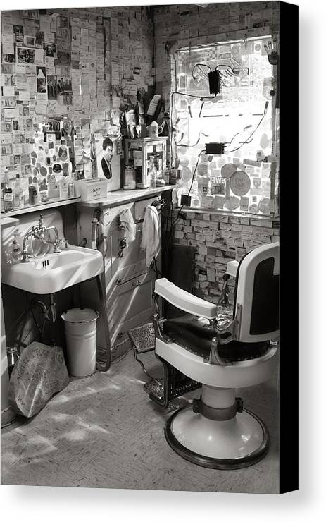 Route 66 Canvas Print featuring the photograph Barber Shop by John Nelson