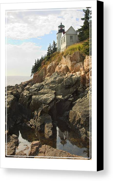 Bass Harbor Canvas Print featuring the photograph Bass Harbor Head Lighthouse by Mike McGlothlen