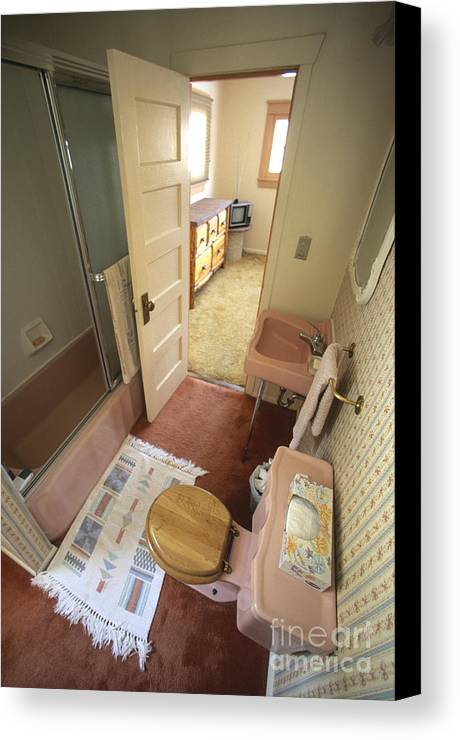Architecture Canvas Print featuring the photograph Bathroom by Chris Selby