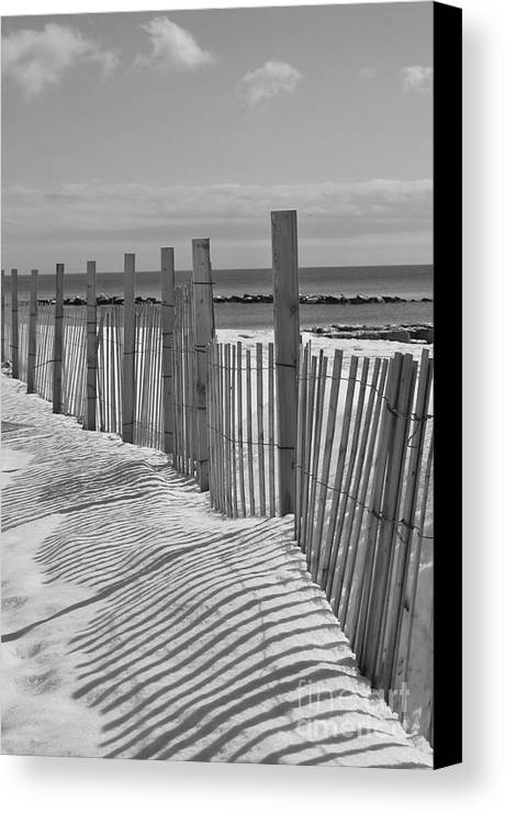 Snow Canvas Print featuring the photograph Beach Snow by Catherine Reusch Daley
