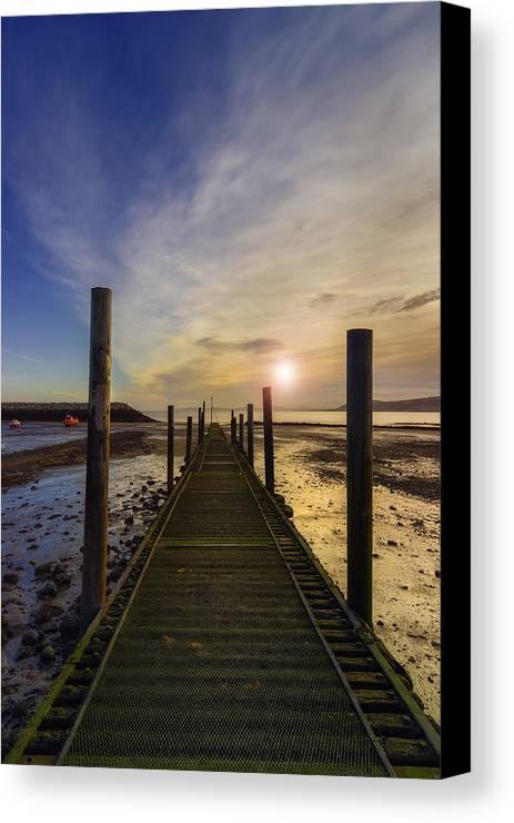 Sunrise Canvas Print featuring the photograph Beach Sunrise V2 by Ian Mitchell