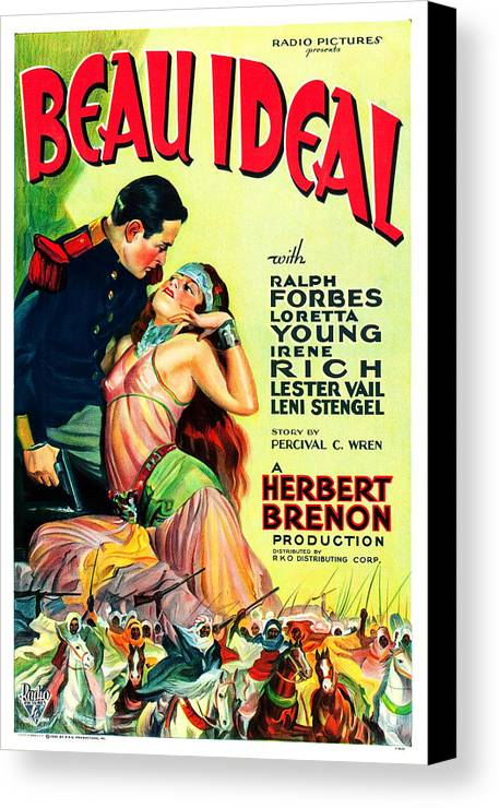 1930s Movies Canvas Print featuring the photograph Beau Ideal, Us Poster Art, 1931 by Everett