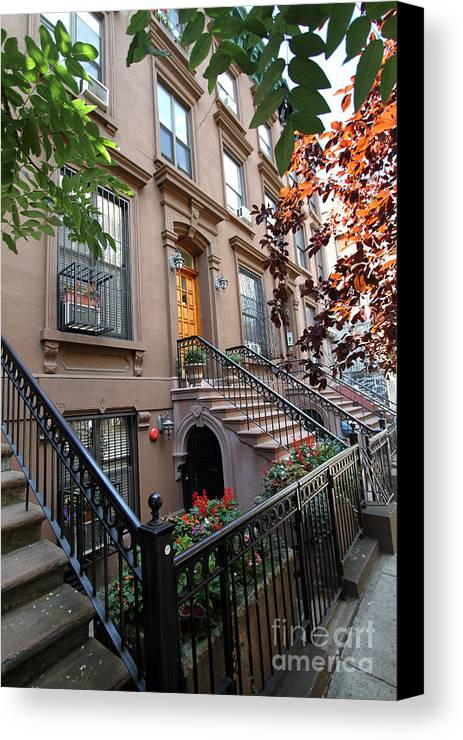 Harlem Canvas Print featuring the photograph Beautiful Brownstone Home by Steven Spak