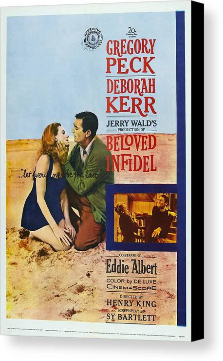 1950s Poster Art Canvas Print featuring the photograph Beloved Infidel, Canadian Poster by Everett
