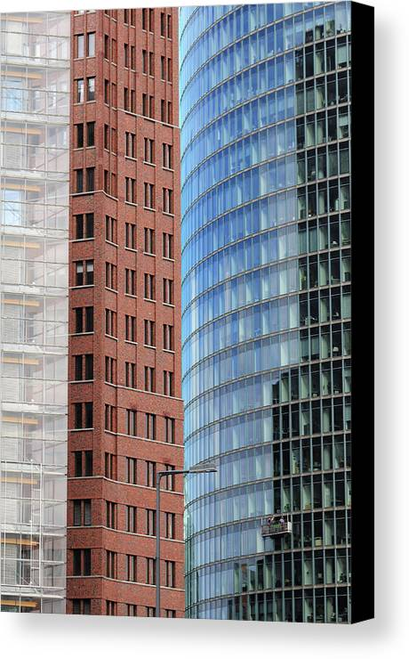 Berlin Canvas Print featuring the photograph Berlin Buildings Detail by Matthias Hauser