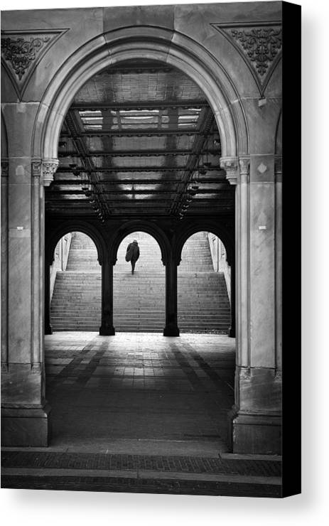 New York Canvas Print featuring the photograph Bethesda Underpass At Central Park In New York City by Ilker Goksen