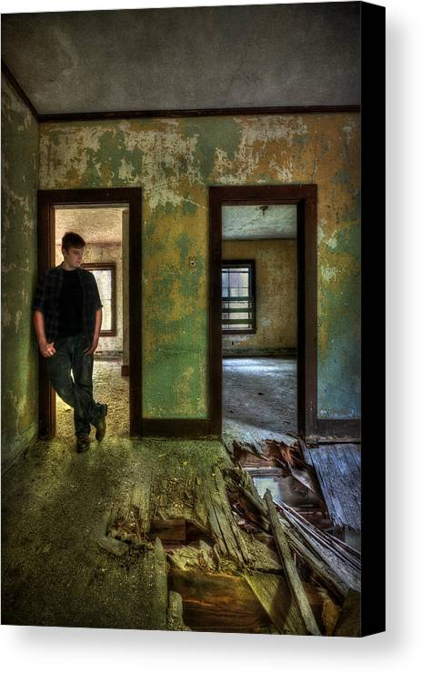 Abandon Canvas Print featuring the photograph Beyond Regrets Of The Past by Evelina Kremsdorf