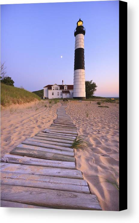 3scape Photos Canvas Print featuring the photograph Big Sable Point Lighthouse by Adam Romanowicz