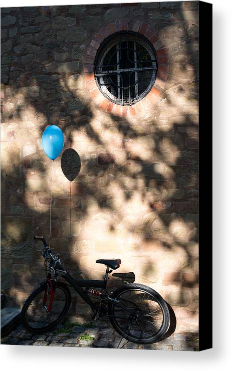 Bicycle Canvas Print featuring the photograph Bike With Balloon by Frank Gaertner