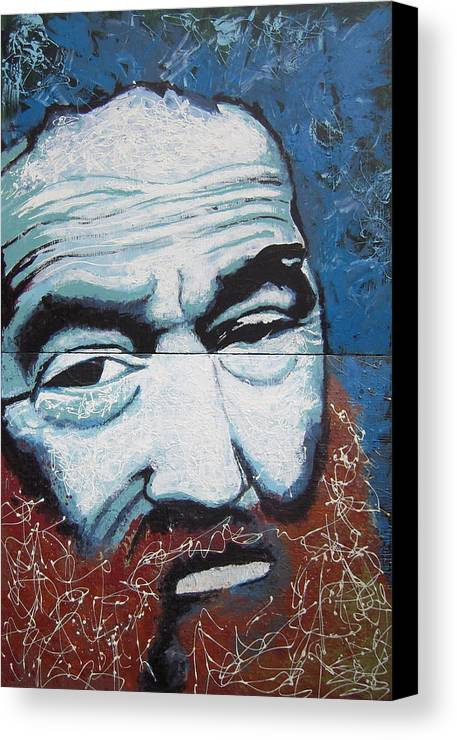 Portrait Canvas Print featuring the painting Bill by Kate Tesch
