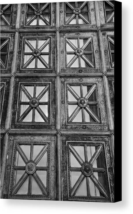 Canvas Print featuring the photograph Black And White by Gerald Andersen