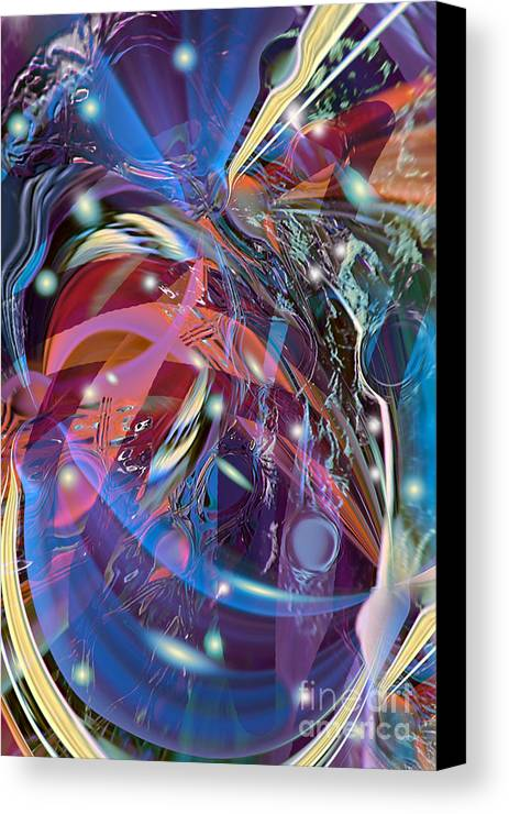 Party Canvas Print featuring the digital art Blow The Lid Off by Margie Chapman