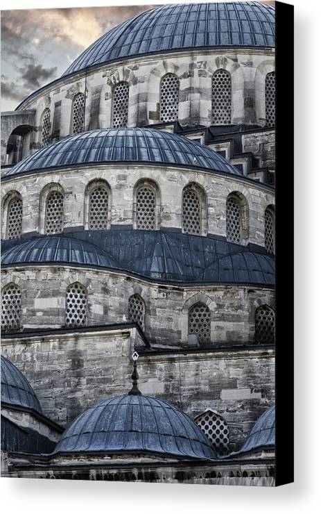 Blue Mosque Canvas Print featuring the photograph Blue Dawn Blue Mosque by Joan Carroll