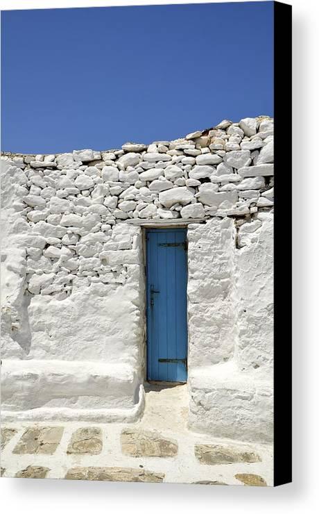Door Canvas Print featuring the photograph Blue Door by Corinne Rhode
