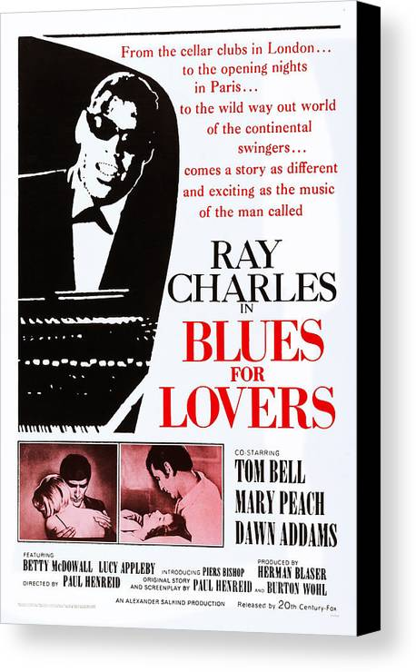 1960s Movies Canvas Print featuring the photograph Blues For Lovers, Aka Ballad In Blue by Everett