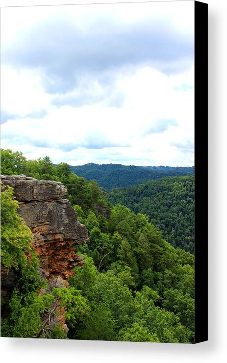 Breaks Interstate Park Canvas Print featuring the mixed media Breaks Interstate Park Virginia Kentucky Rock Valley View Overlook by Design Turnpike