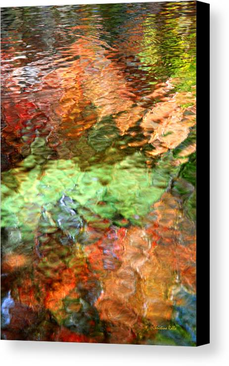 Abstract Water Canvas Print featuring the photograph Brilliance by Christina Rollo