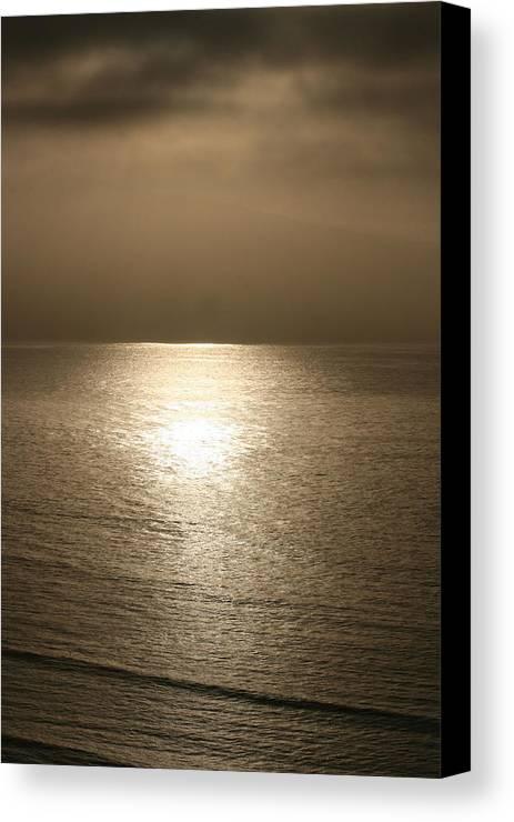 Pacific Ocean Marin Canvas Print featuring the photograph Bronze Ocean by Tim Burns
