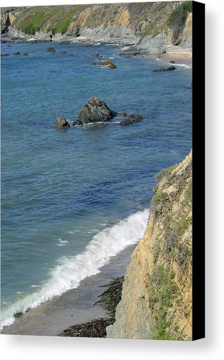 Califormia Canvas Print featuring the photograph California Coastline by Suzanne Gaff