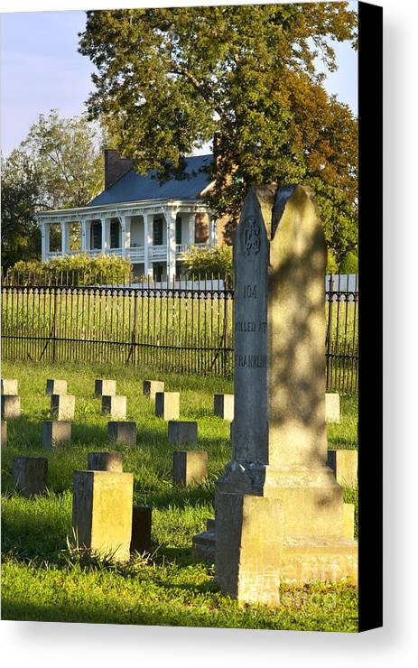 Carrie Mcgavock Canvas Print featuring the photograph Carnton Plantation by Brian Jannsen